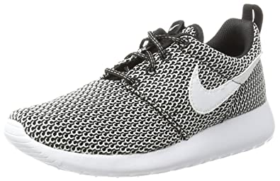 online store 51850 d216f Nike Roshe One Big Kids (GS) Shoes BlackWhite 599728-040 (