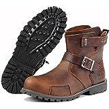 ブーツ メンズ 牛革 ショートブーツ 本革 牛仔靴 アウトドアブーツ 厚底 バイクブーツ 茶色 エンジニアブーツ 履きやすい