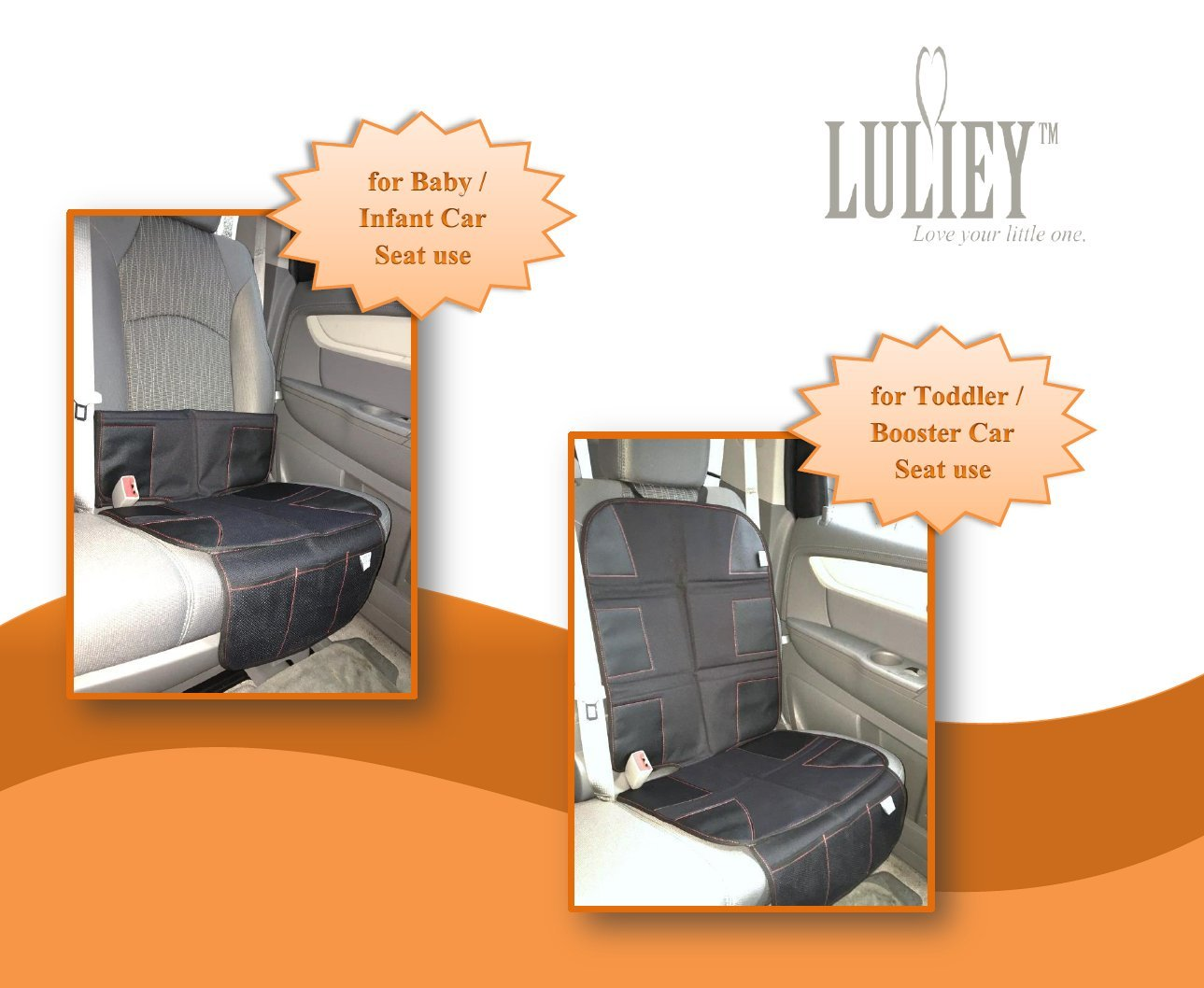 PREMIUM OXFORD Luxury Car Seat Protector - Durable 600D OXFORD Material, Black Leather by Luliey (Image #7)