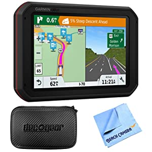 Garmin dezlCam 785 LMT-S GPS Truck Navigator with Built-in Dash Cam (010-01856-00) with Accessories Bundle Includes, Hard EVA Case with Zipper, 7-inch and 1 Piece Micro Fiber Cloth