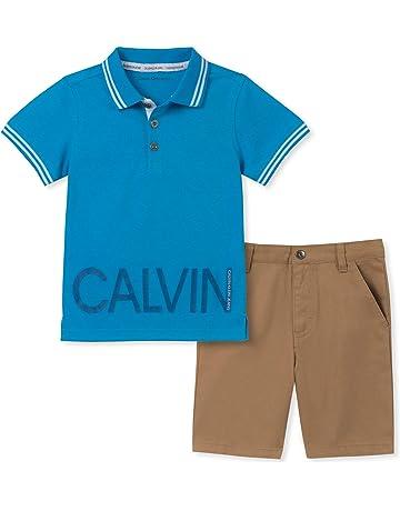 10b1d320a Calvin Klein Baby Boys' 2 Pieces Polo Shorts Set