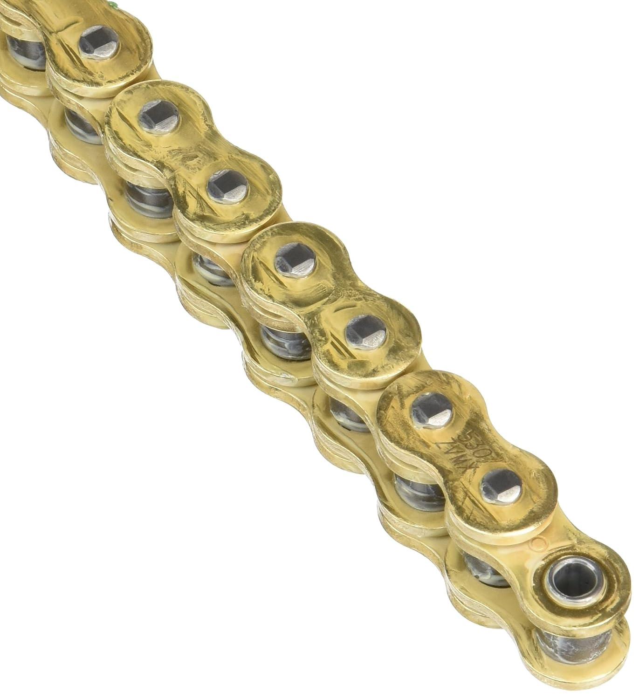 98/Denti D.I.D/Catena 520/Zvmx X-Ring Dorati Aperta Con Chiusura A Rivetto