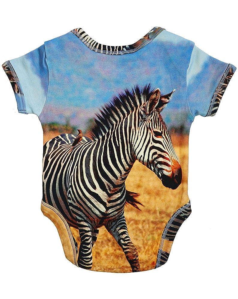 Unisex Baby Bodysuit Onesie 100/% Organic Cotton Inchworm Alley Zebra