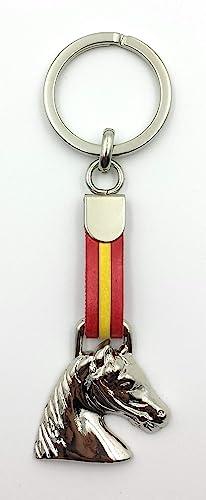 FJR-ArtPiel - Llavero bandera de España con cabeza de caballo - Alta Calidad: Amazon.es: Handmade