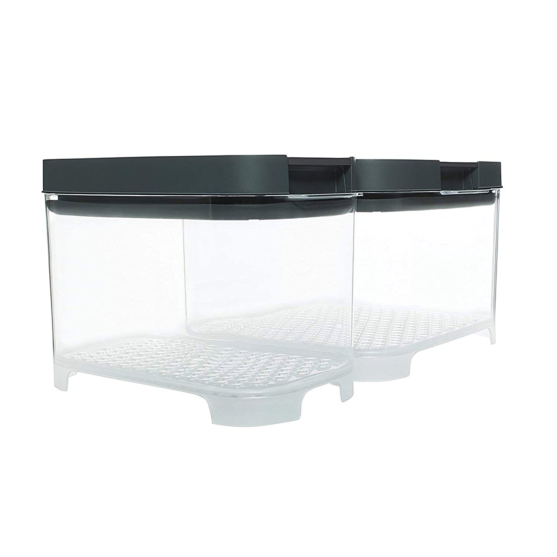 Rubbermaid 2042885 FreshWorks Countertop Food Storage Produce Saver, Set, Clear/Grey