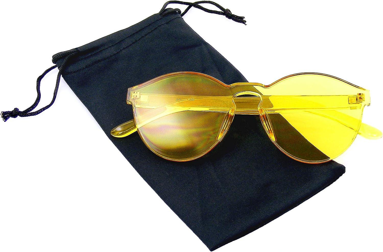 Mono Block Rimless PC Color Tone Lens Sunglasses Eyewear Glasses Black