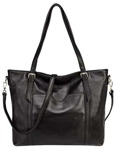 7b1225379b Amazon.com  Jair Black Large Shoulder Shopper Handbags Pebbled Leather Designer  Womens Tote Purse for Work  Shoes