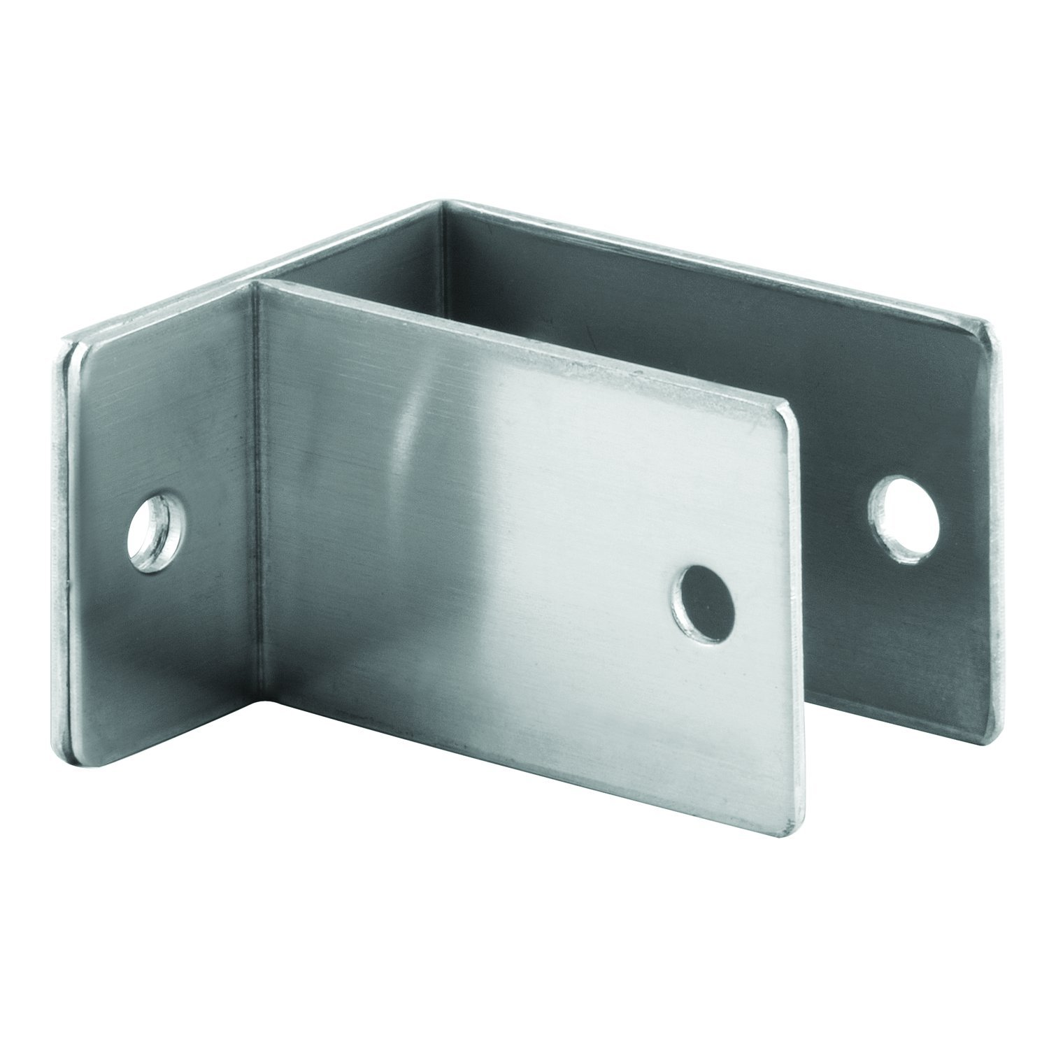 Sentry Supply 656-8160 One Ear Wall Bracket Satin Finish Pack of 1 For 1-1//4 In Thick Panels Stamped Stainless Steel Construction