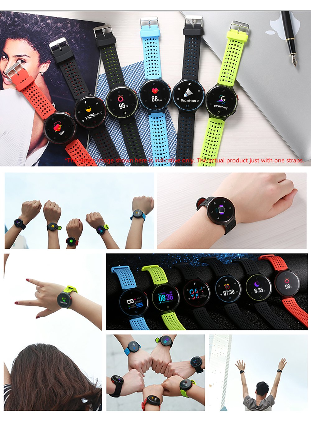 Microwear X2plus Reloj deportivo Pulsera inteligente SMA Band ...