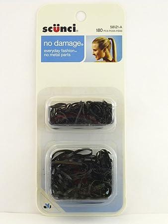 Amazon.com   Scunci Black Polyband Hair Elastics - 180 Pcs.   Beauty 93df604030f
