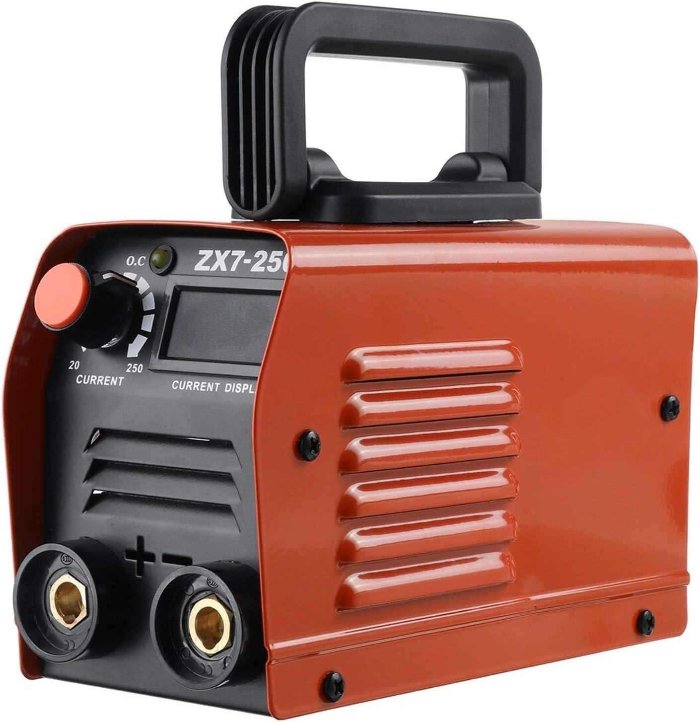 LOMAX Portátil Máquinas Herramienta de Soldadura, máquina de Soldadura eléctrica 220V del hogar DC Máquinas de soldar Herramientas eléctricas (Color : Red)