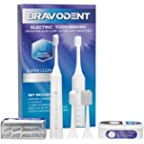 Rechargeable Electric Toothbrush for Adults Powerful Sonic Cleaning Toothbrush Gift Set with 2 Brush Heads, Tooth…