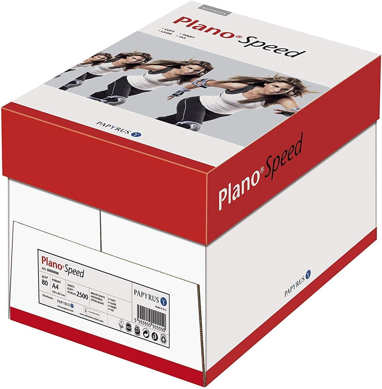 Papyrus 88113572 PlanoSpeed - Papel para impresión (80 g/m2, A4, 2500 hojas), color blanco: Amazon.es: Oficina y papelería