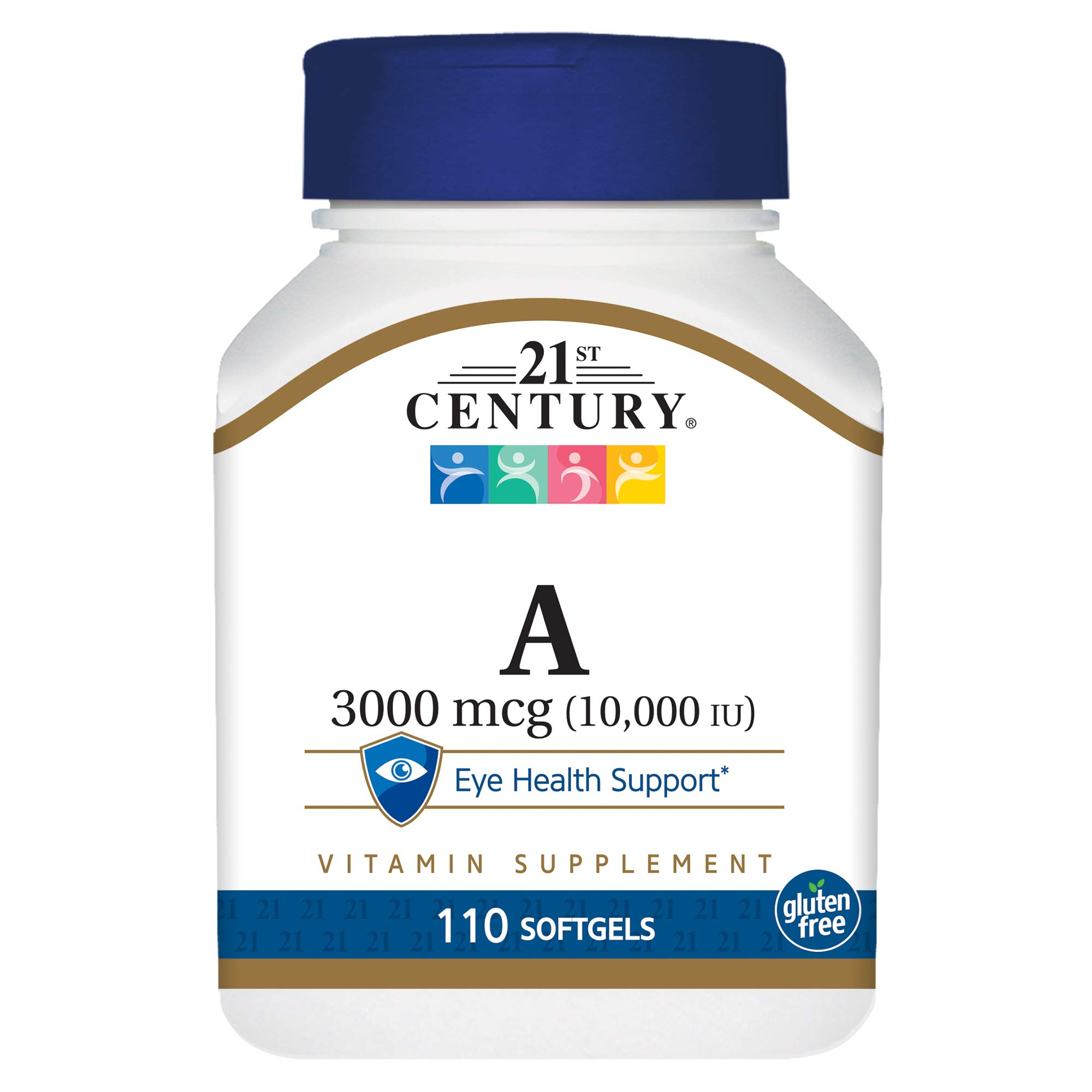 21st Century A 10,000 I.U. Softgels, 110 Count