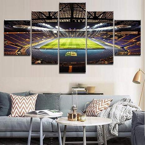 Wall Art Canvas Painting 5 Panel Sports Stadium Modular Pictures Poster para Sala de Estar Decoración Moderna Pinturas únicas: Amazon.es: Hogar