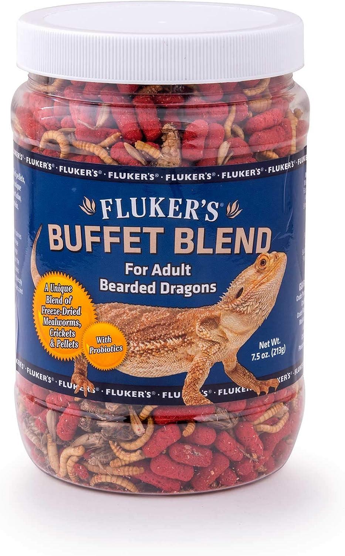 Fluker's 76041 Buffet Blend Adult Bearded Dragon Formula, 2.9oz