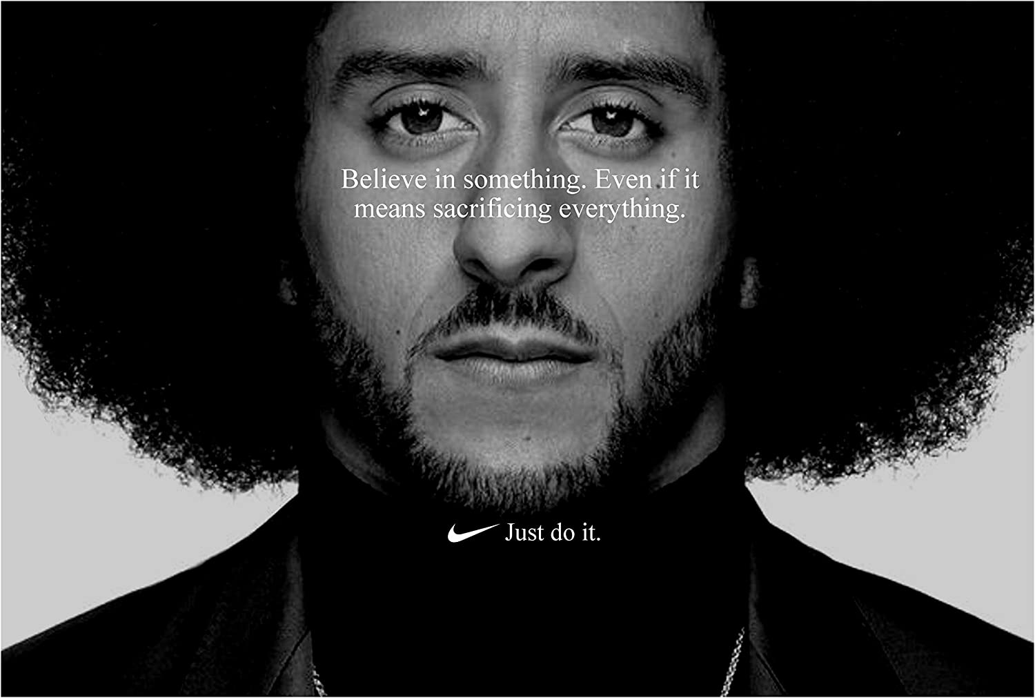 Amazon Com Posterwarehouse2017 Colin Kaepernick Just Do It Replica Nike Ad Poster Sports Outdoors