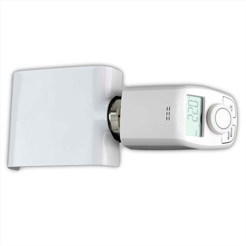 Anschlussgarnitur f/ür Badheizk/örper mit Mittelanschluss mit elektronischem Thermostat DURCHGANG