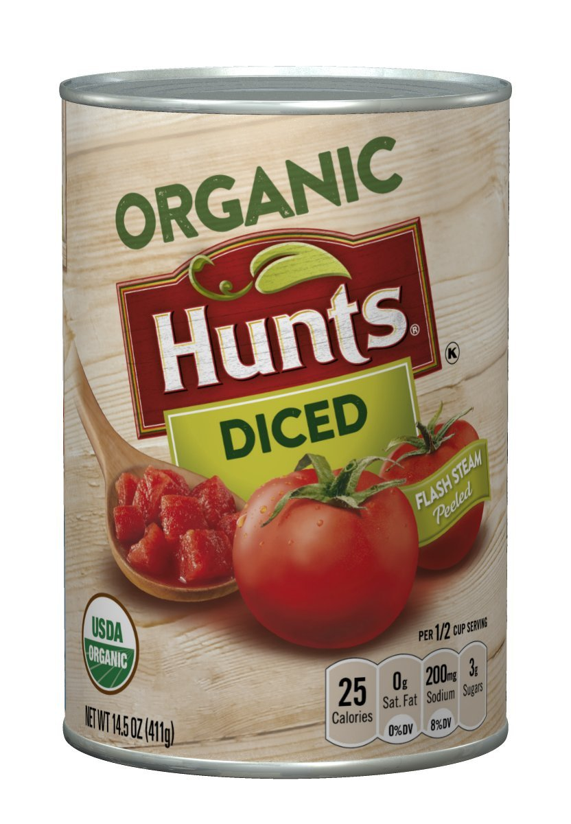 Hunt's Organic Diced Tomatoes, 14.5 oz, 12 Pack