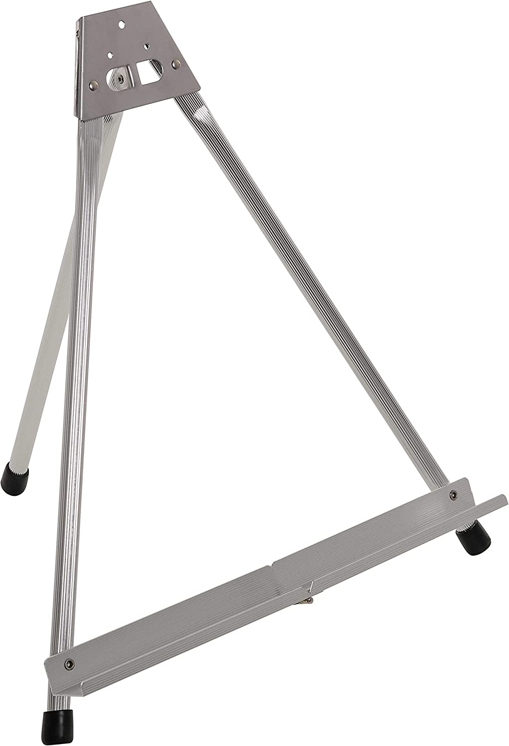 "U.S. Art Supply 15"" High Aluminum Tabletop Display Easel with Collapsible Folding Frame - Portable Artist Tripod Stand - Holds Canvas, Paintings, Books, Presentations, Photos, Pictures, Signs, Posters"