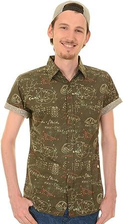 Run & Fly Hombre Matemáticas Geek Formulas Pizarra Impreso Camisa: Amazon.es: Ropa y accesorios