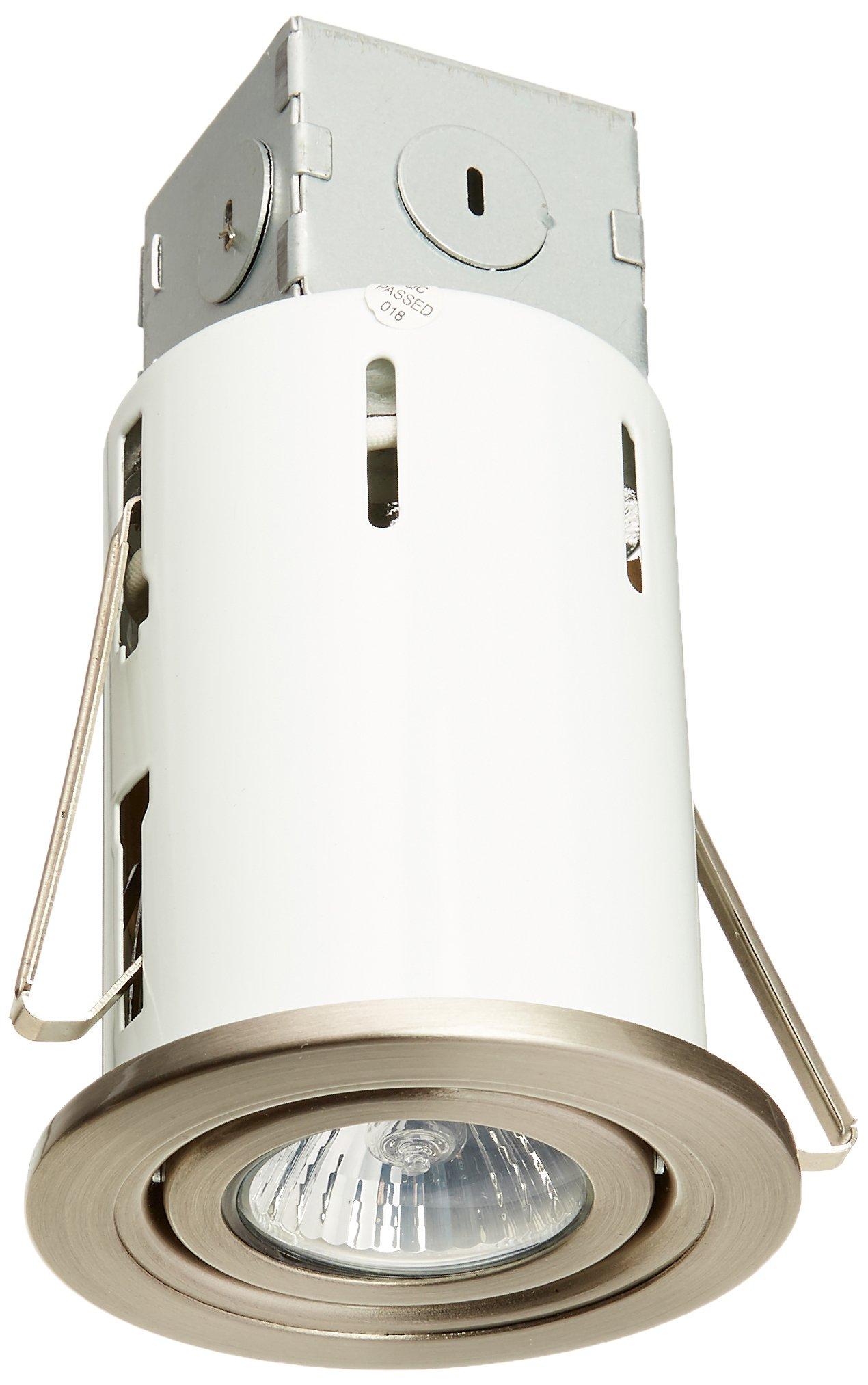 POWER ZONE RS6000R+ TRIM603- Recess Light GU10 Kit, 3-Inch, Brushed Nickel