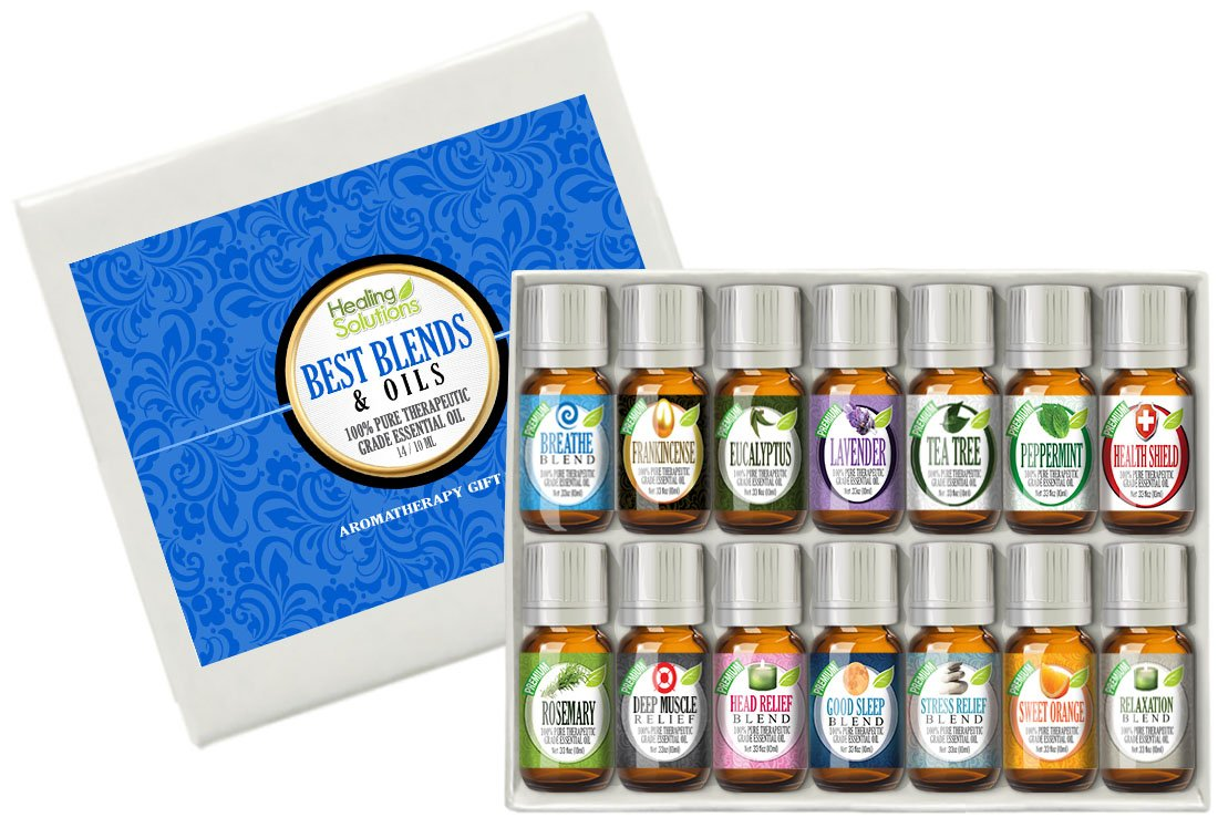 Best Blends & Oils Set of 14-100% Pure, Best Therapeutic Grade Essential Oil - 14/10mL