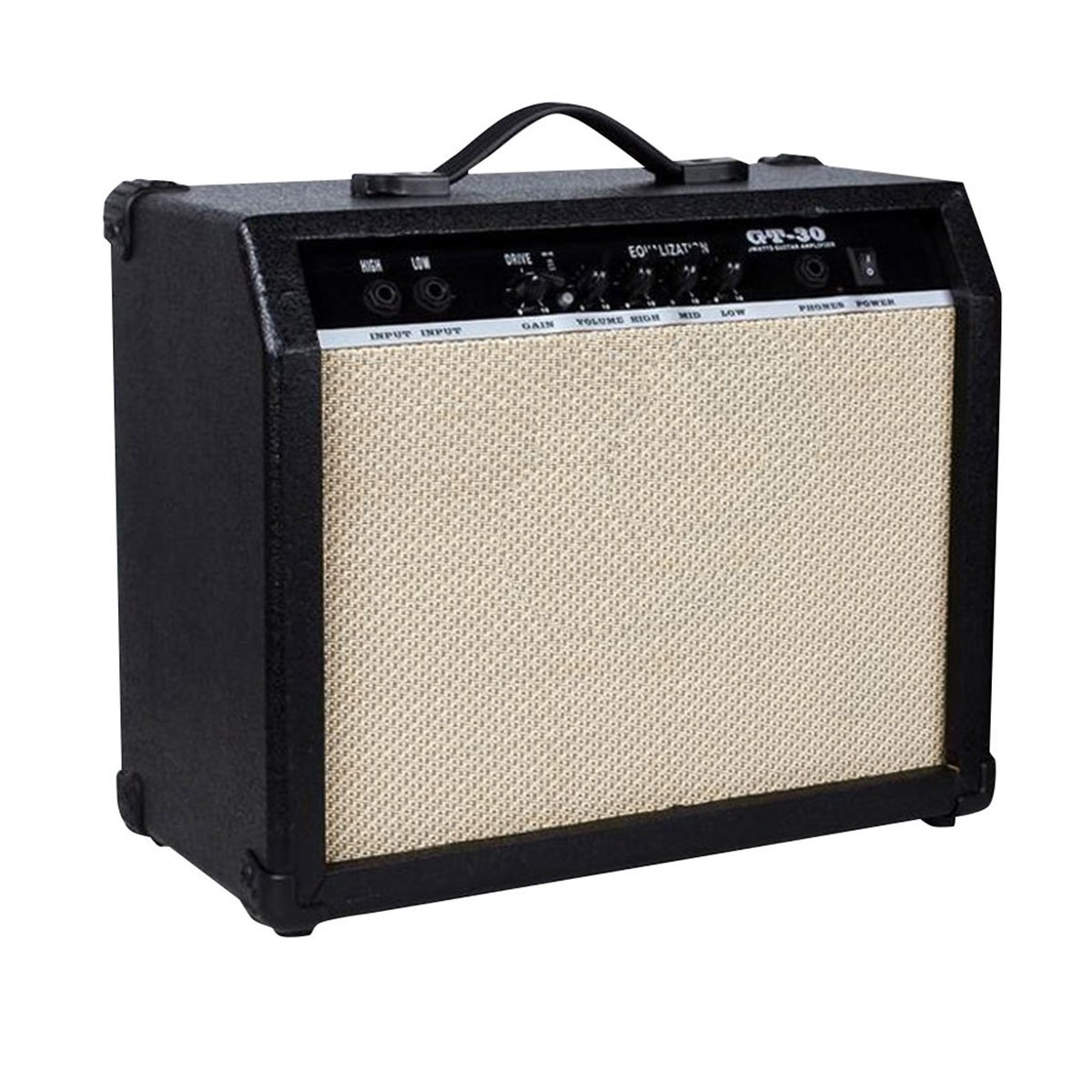 Blueseason Electric Guitar Amplifier 30W Clean Channel with Handle Portable Amplifier ,Black