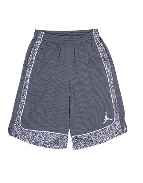 ab32dfc3f80 Jordan Nike Boys' Elephant Print Dri-Fit Basketball Shorts (Black, Small)