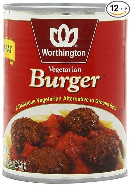 Amazon worthington vegetarian burger low fat 20 ounce cans amazon worthington vegetarian burger low fat 20 ounce cans pack of 12 vegetarian meat substitutes grocery gourmet food forumfinder Choice Image