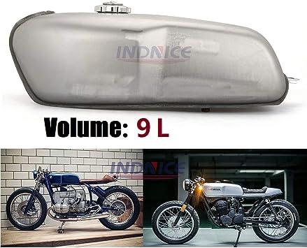Amazon Com Universal Motorcycle Cafe Racer Gas Fuel Tank 9 L 2 4 Gallon For Yamaha Rd 50 350 400 500 Bmw Honda Kawasaki Suzuki Custom Classic Automotive