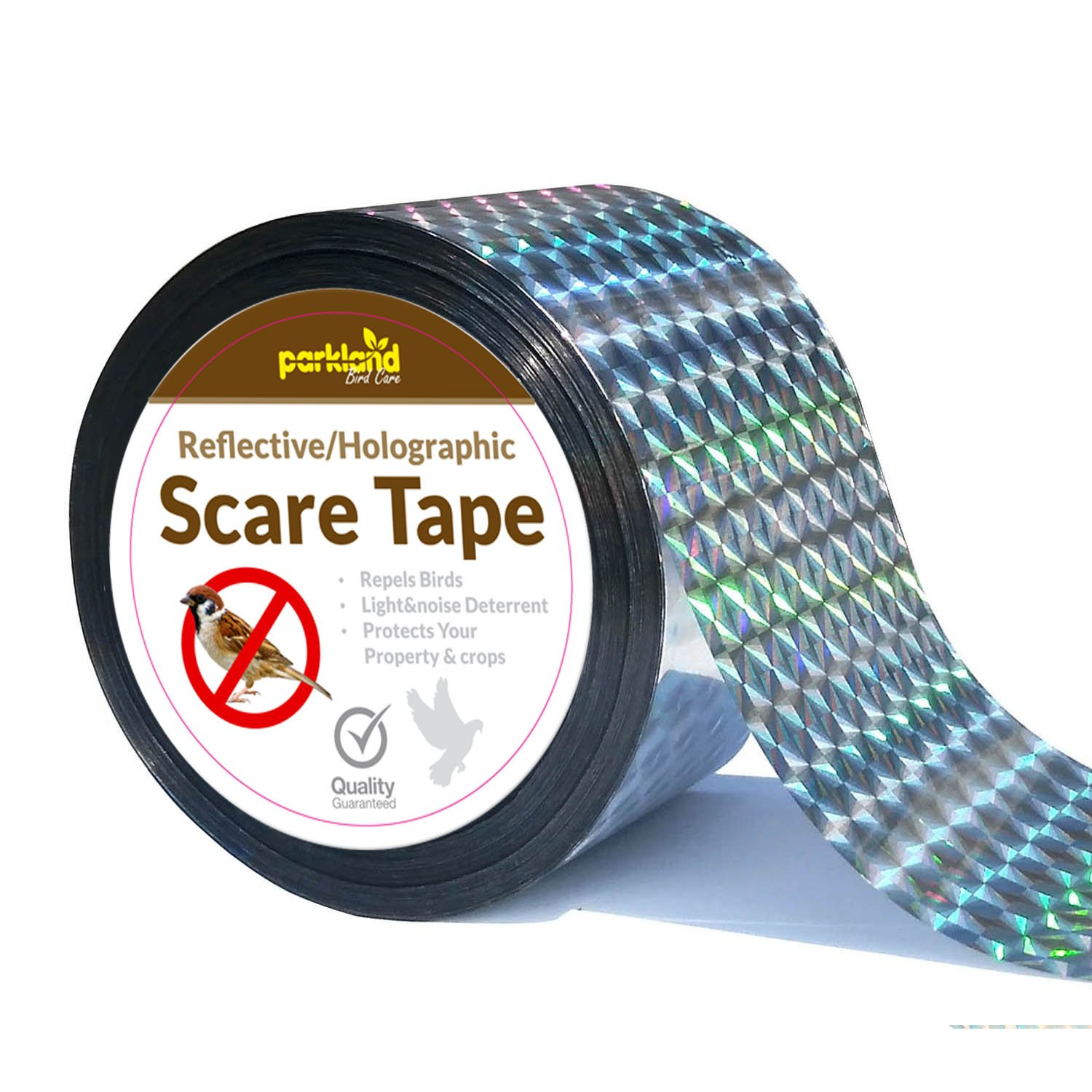 Crows and More Ducks 1 Deterrent Works with Netting And Spikes Parkland/® 350ft Bird Repellent Scare Tape Keep Away Pigeons