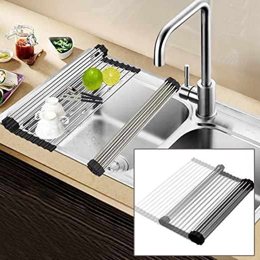 Amazon.com: Green_Mall Dish Drying Rack Stainless Steel ...
