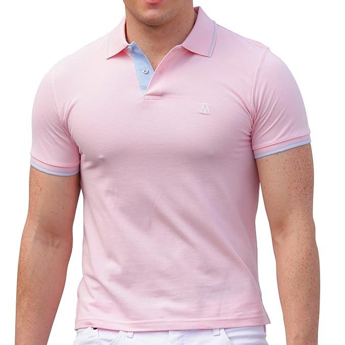 AsdruMark Camiseta Polo Shirt para Hombres, Rosa: Amazon.es: Ropa ...
