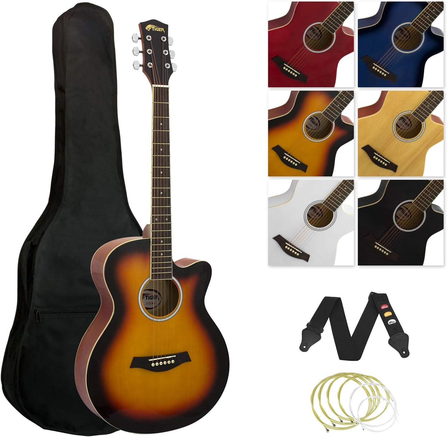 Juego de guitarra acústica Tiger para guitarra pequeña, estilo ...