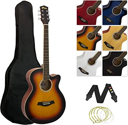 Tiger Juego de Guitarra Acústica Estilo Degradado: Amazon.es ...