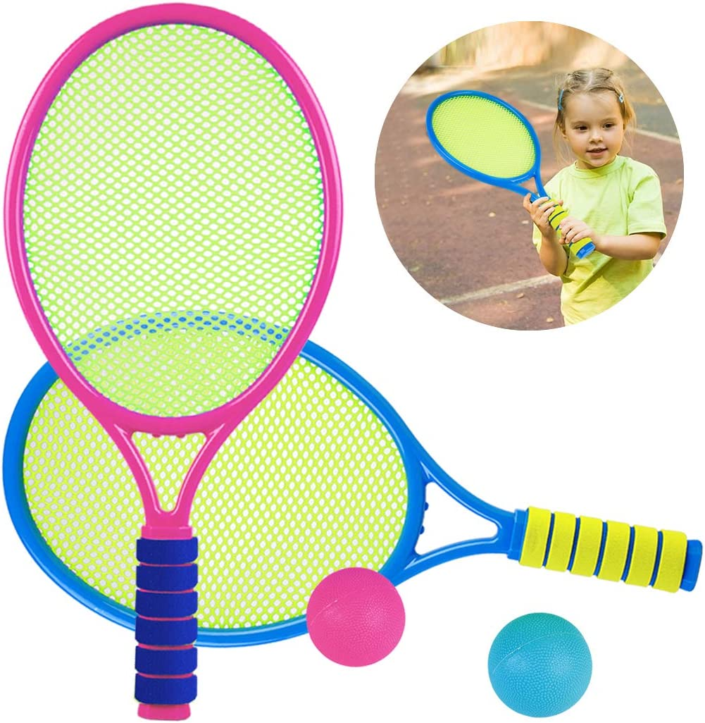Kids Tennis Racquet Set Funny Tennis Racket with Balls for Outdoor  Training: Amazon.co.uk: Sports & Outdoors