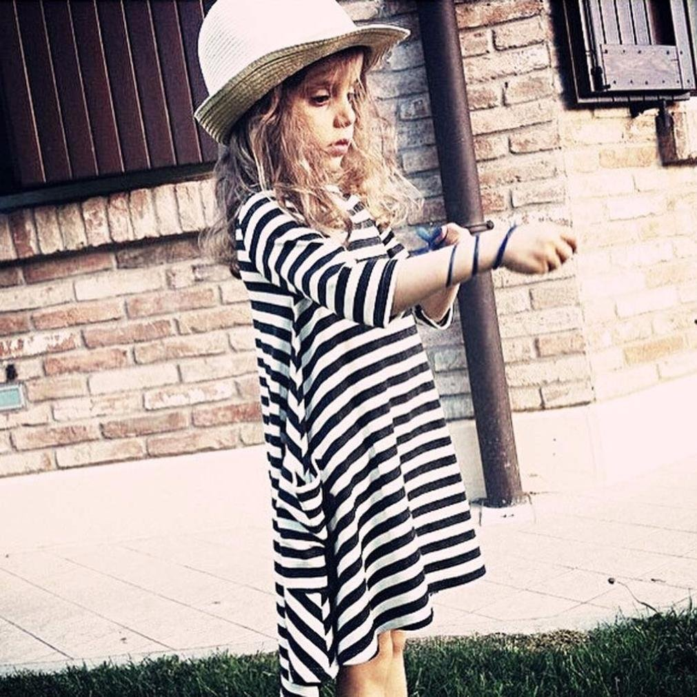 Yoyorule Mother and Daughter Striped Long Sleeve Dress Casual Family Dress Yoyorule 11
