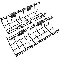 KD Essentials – Kabelkorf van metaal, 2 st. per verpakking – kabelhouder (bureaublad onderbouw of aan de wand…