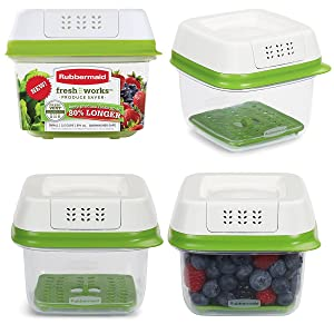 Rubbermaid (8 Piece) 2.5-Cup Produce Saver Set Food Storage Container Bowls