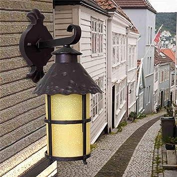 Luz Creativa, Estilo Americano Americano Estilo Europeo Balcón Exterior Exterior Impermeable Patio Exterior Escalera Escalera Aplique de Pared, Qi Xian: Amazon.es: Bricolaje y herramientas