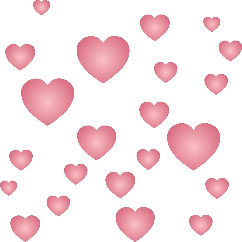 Cuore stencil –  riutilizzabili Valentine Love Tiny Hearts Shape Wall stencil template –  da usare su carta progetti scrapbook Journal muri pavimenti tessuto mobili in vetro legno ecc. s Stencil Company