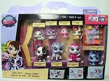 Amazon.es: Hasbro Littlest Pet Shop Glitter Pets 8 Pack #4080-4087 ...