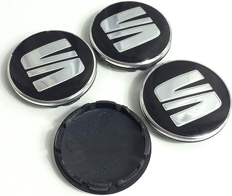 Image of4x 56mm Seat Emblema Mediados Nabe tapas nadadores Logo cubierta Ibiza Leon 5F0601171