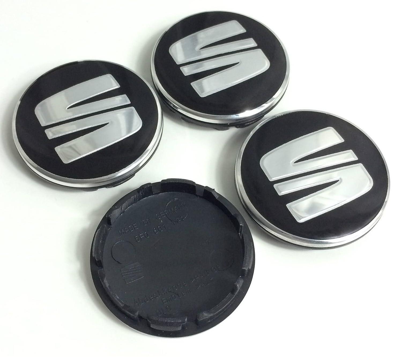 4 x 56 mm Seat Emblema Mediados Nabe tapas nadadores Logo cubierta Ibiza Leon 5 F0601171: Amazon.es: Coche y moto