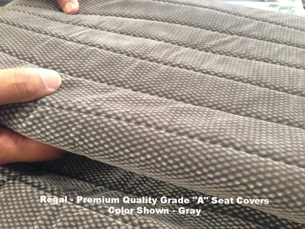 RealSeatCovers for 1995-2000 Toyota Tacoma Front Solid Bench Gray Seat Cover Triple Stitched 12mm Thick Padding Molded Headrest Seat Belt Cutout Small 2 to 3 Shifter Cutout Custom Made Exact Fit