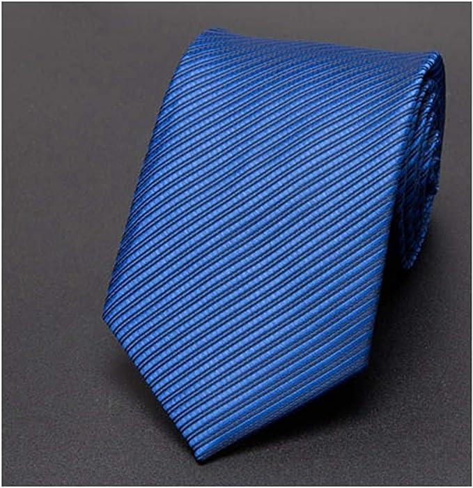 Meaningg-Mnes Tie-Hombres Corbata 8cm Negocios Hombres Moda Rayas ...