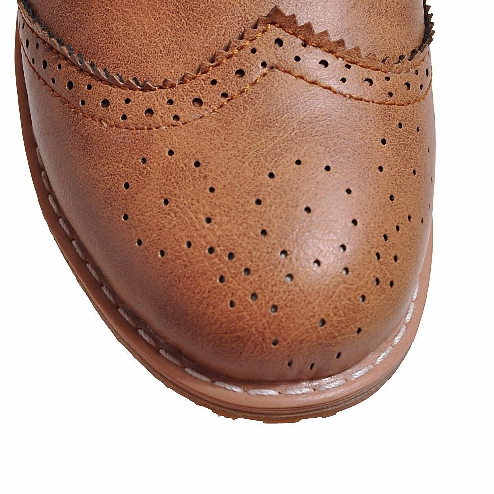 Cicime Women's Flat Lace-up Wingtip Oxfords Vintage Brown Oxford Shoes Brogues by Cicime (Image #5)