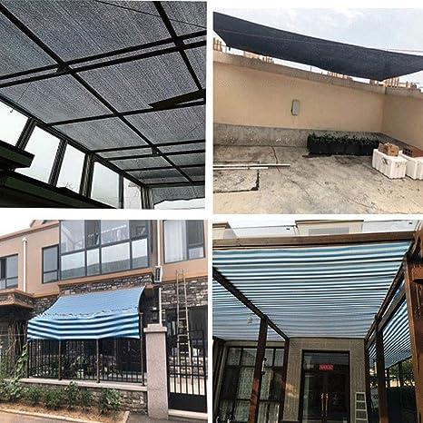 PeiQiH 85%-95% Sombra De Tela Protector Solar, sombrilla Neta Sombra Resistente A Los Rayos UV con Ojales, Malla Sombra Bloqueador Solar Cubierta De La Planta Invernadero Patio Negro 6x12m(19.6x39ft): Amazon.es: Jardín