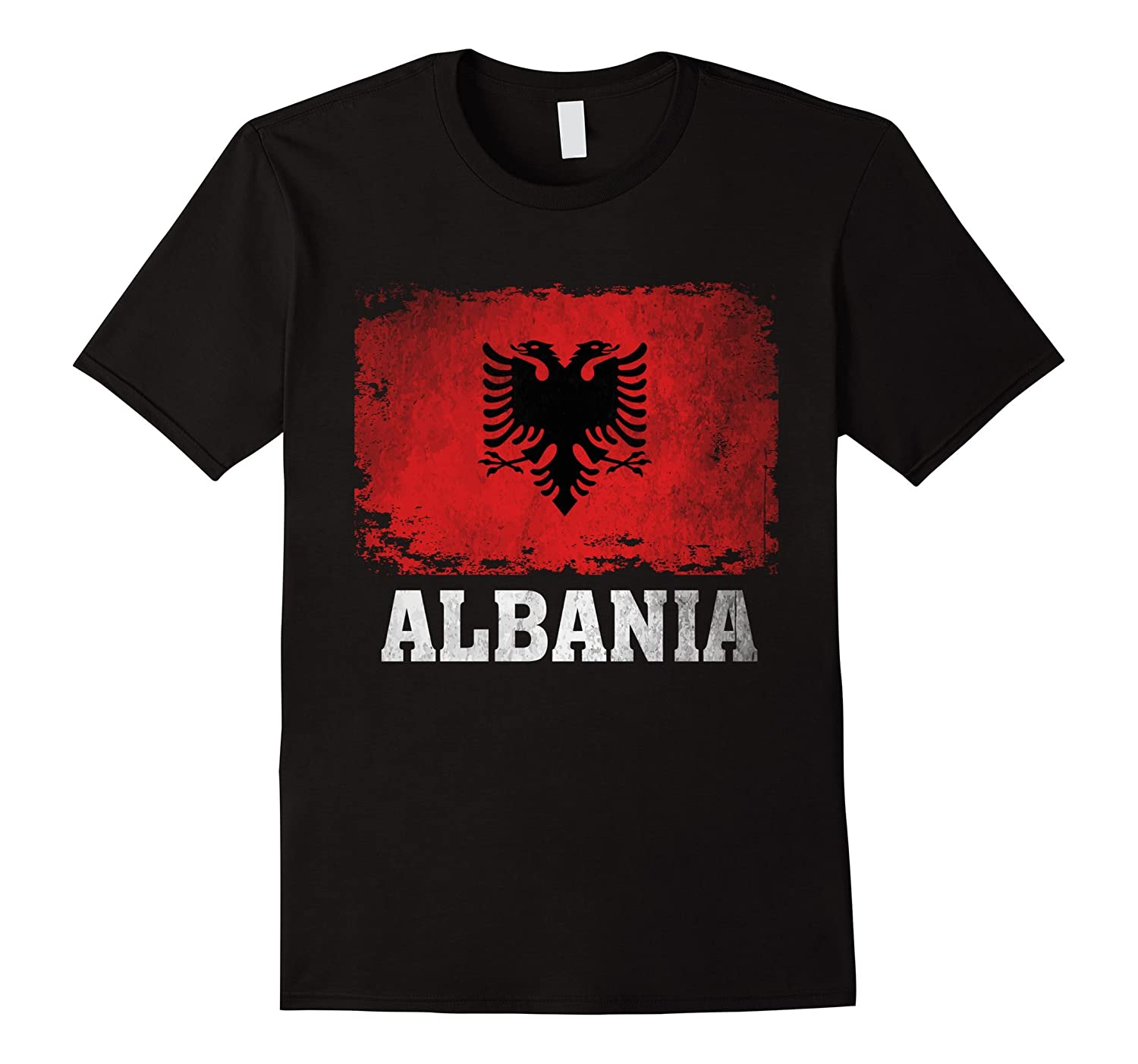 Albania Flag T-Shirt Albanians Soccer Football Team Jersey-RT